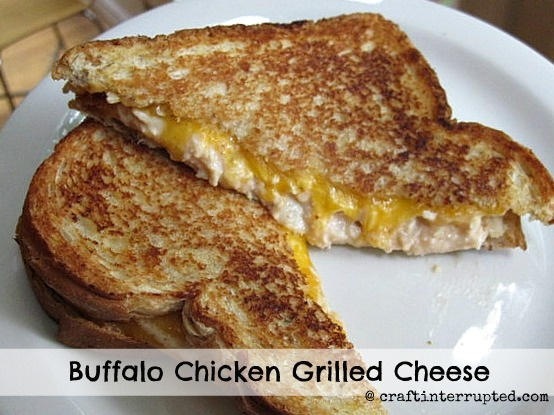 Buffalo Chicken Grilled Cheese Sandwich | mmmmm | Pinterest