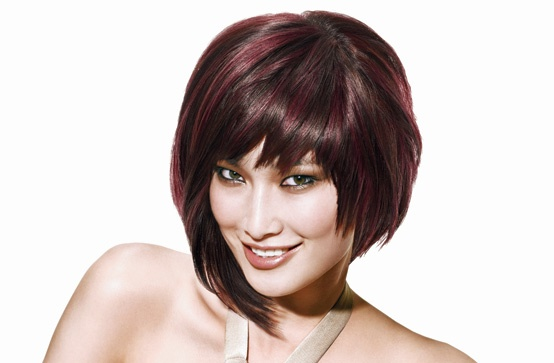 Red Violet Highlights With Chocolate Brown Hair  Google Search  Growing My