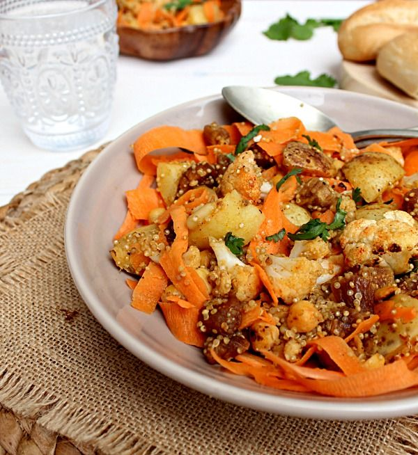 Carrot Quinoa Chickpea Moroccan Carrot Salad with Tahini Dressing | R ...