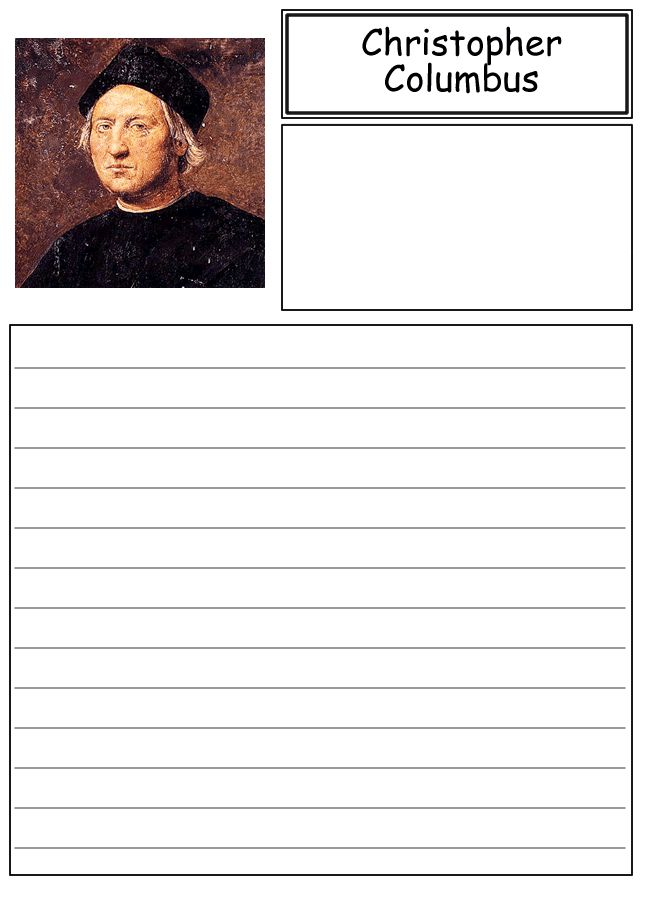 Christopher Columbus Writing Paper