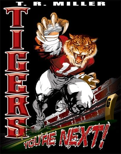 football tshirt designs tigers football player t shirt at color - Football T Shirt Design Ideas