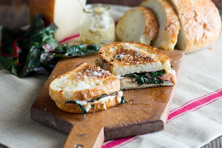 Gruyere Grilled Cheese with Sautéed Chard on La Brea Bakery Italian ...