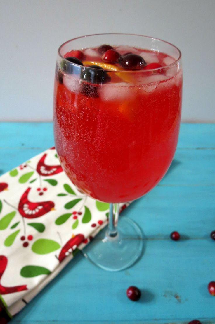 Cranberry Orange Spritzer - A light, bubbly, low calorie festive ...