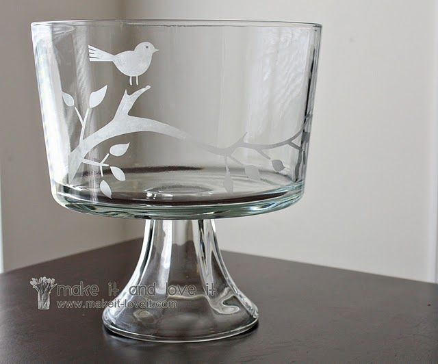 Easty tutorial on Glass Etching.  Wow. Hello gift ideas! @Kara Swofford