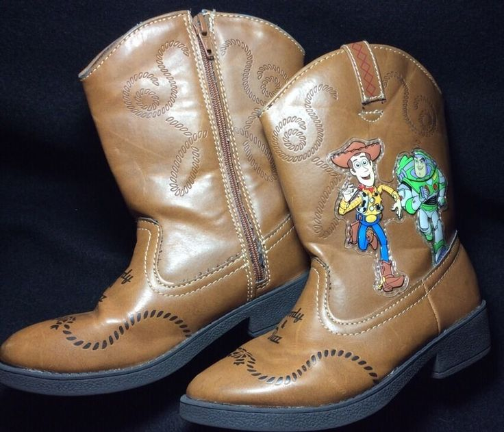 Toy Story Boots For Boys : Disney toy story buzz woody light up cowboy brown boots
