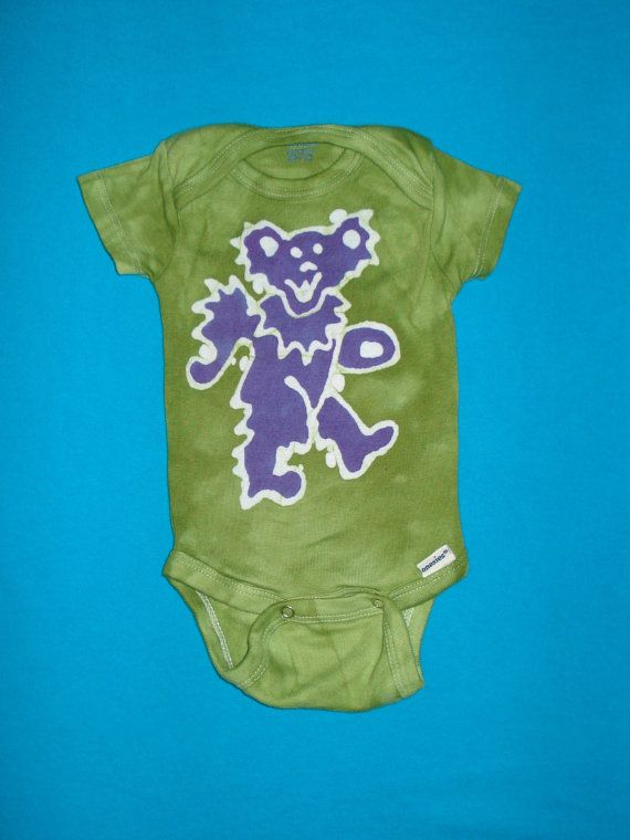 The Grateful Dead Baby esie Dancing Bear Batik READY to SHIP