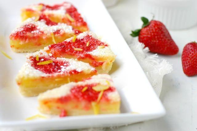 freckled strawberry lemonade bars | Treats to make | Pinterest