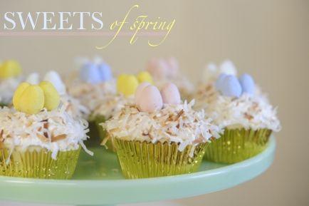 Coconut Nest Cupcakes | Cupcakes | Pinterest
