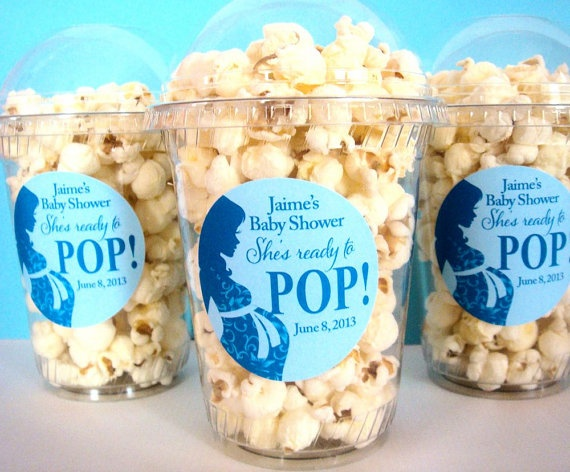 popcorn boxes baby shower ready to pop