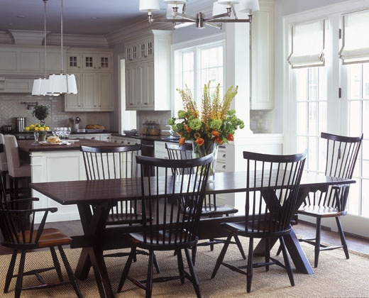 Kitchen dining room combo home design pinterest for Dining room kitchen combination