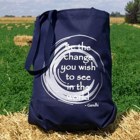 Be the Change Tote Canvas Tote