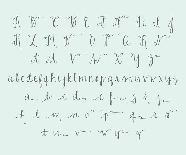 Calligraphy Idea Easy With A Pen Fonts Flips