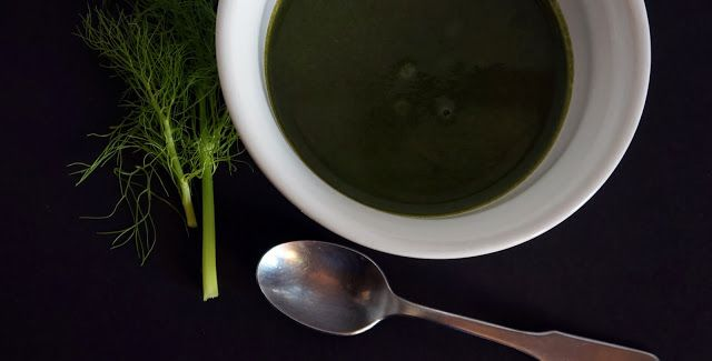 Green Monster Soup | Cream of Spinach & Fennel | forkchette.com
