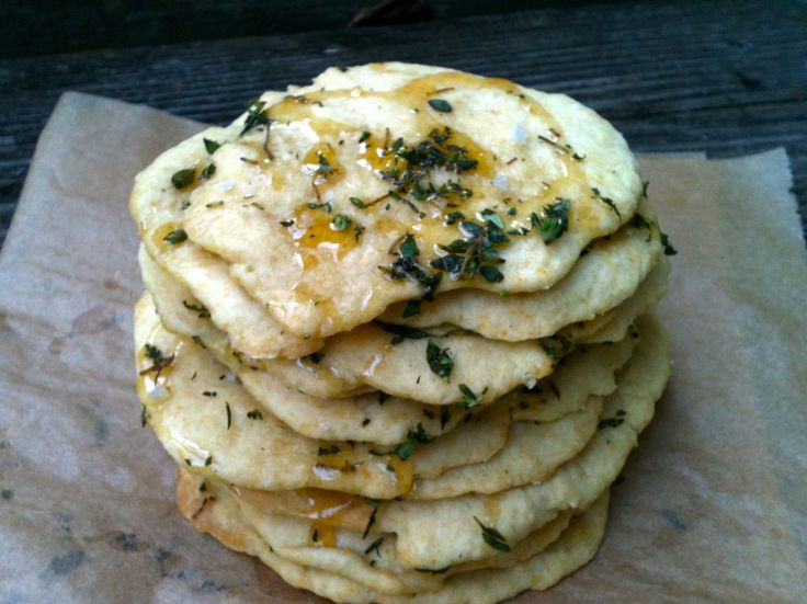 honey-thyme flatbread with sea salt | From Scratch | Pinterest