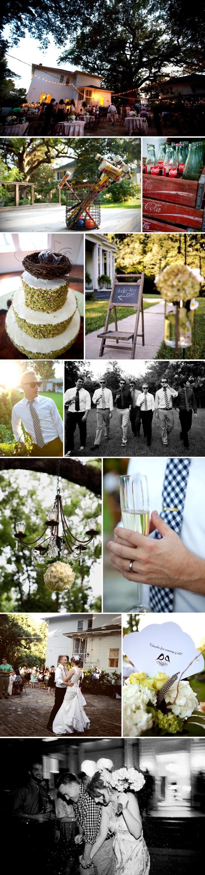 backyard casual wedding weddings pinterest