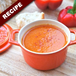 roasted red pepper & potato soup | Food | Pinterest