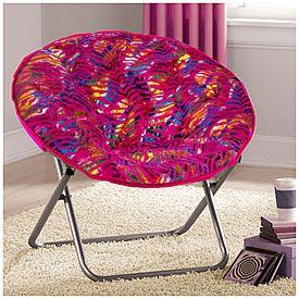 Saucer chair pink zebra at big lots furniture pinterest