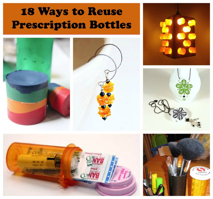 Upcycling pill bottles for What to do with empty prescription bottles