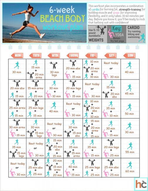 Six-week beach body workout plan - Diet & Exercise