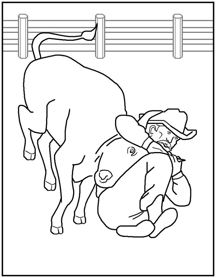 Rodeo horse coloring pages - crazywidow.info
