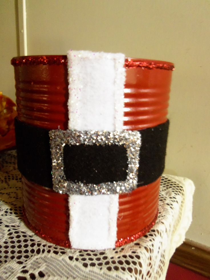 Pin by sandy goldman heilig on coffee can crafts pinterest for Christmas crafts out of tin cans