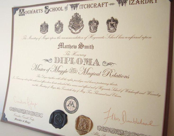 Diploma hogwarts diploma for Hogwarts diploma