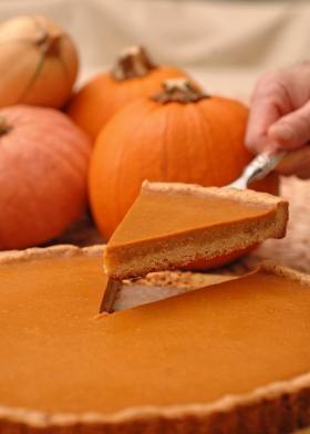 Pumpkin Tart with Cinnamon Pecan Shortbread Crust