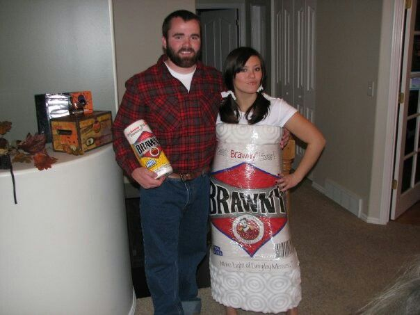 Brawny man with paper towels! Yup this is me and I made it!