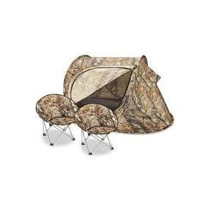 Kids' Tent and 2 Chairs by Lucky Bums® - Camouflage - Great for Camping or Playing Indoors & Outdoors. SHIPS FREE!