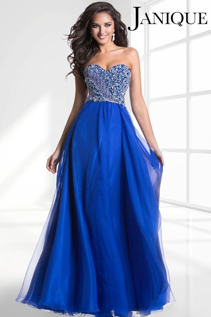 Vestido noche azul rey