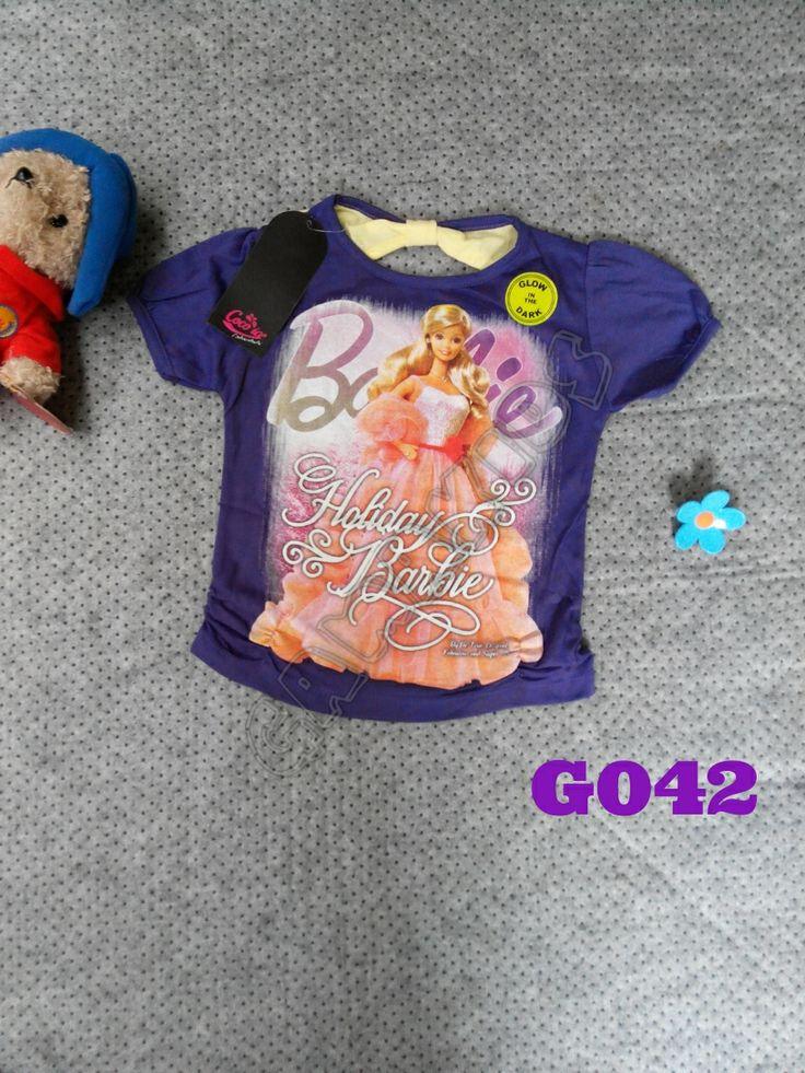 shirt Hello Kitty girl (G042) Ungu (glow in the dark) || Size 3-6 ...