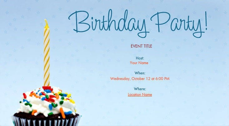 electronic birthday invitation