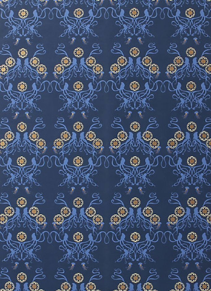 Octopus wallpaper anthropologie for the home pinterest for Anthropologie wallpaper