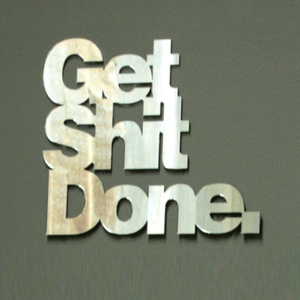 Get Shit Done Wall Art Mirror