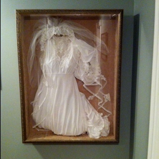 Shadow box wedding dress cheap for Boxes for wedding dresses