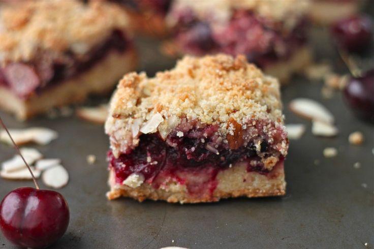 Cherry Almond Crumb Bars | TheCornerKitchenBlog.com