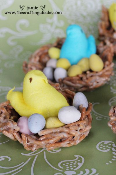 Peeps in a nest. Made these tonight. =D