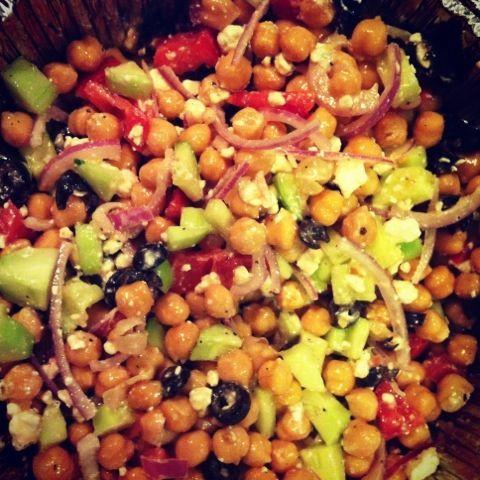Greek garbanzo bean salad | Recipes | Pinterest