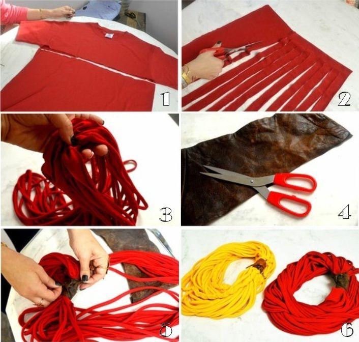 decorar cozinha velha:colar-tecido