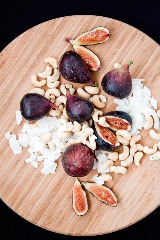 Fresh Figs With Cashew Cream Recipe — Dishmaps