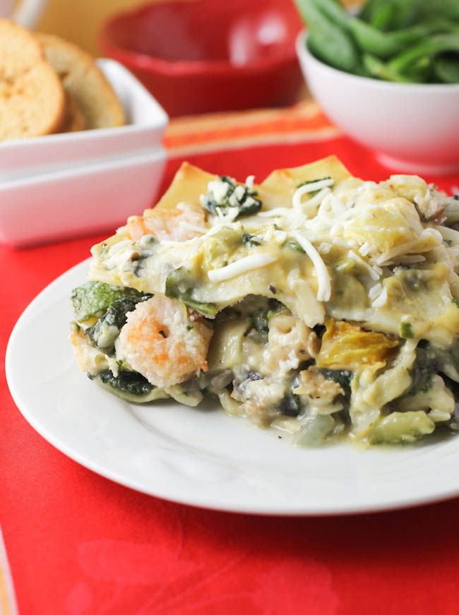 Seafood lasagna: I know it's a sin to be italian and not like lasagna ...