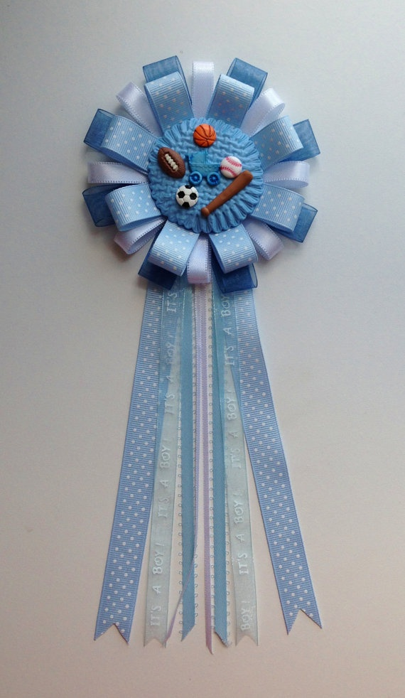 all start sports baby shower corsage baby boy favor pin