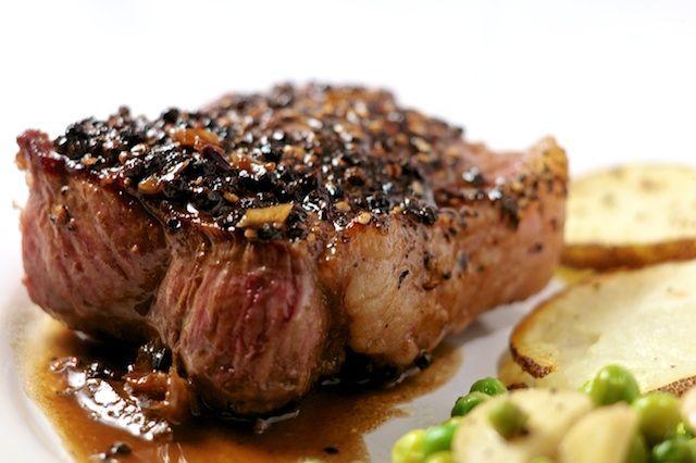 Steak au Poivre | Food | Pinterest