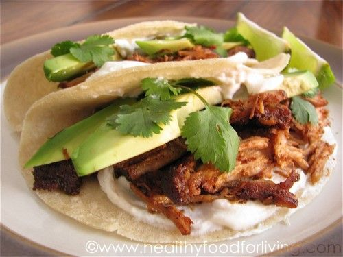 shredded pork tacos- making these tonight!
