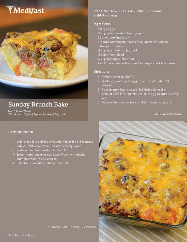 Sunday Brunch Bake! #Medifast | Medifast | Fit&Festive Recipes | Pint ...