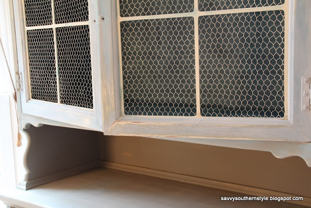 Chicken Wire Cabinet Door Kitchen Pinterest