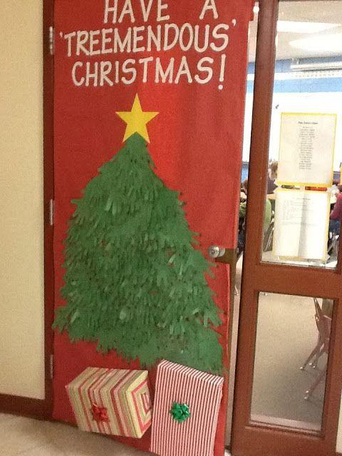 Christmas door decorating decor contest xmas pinterest