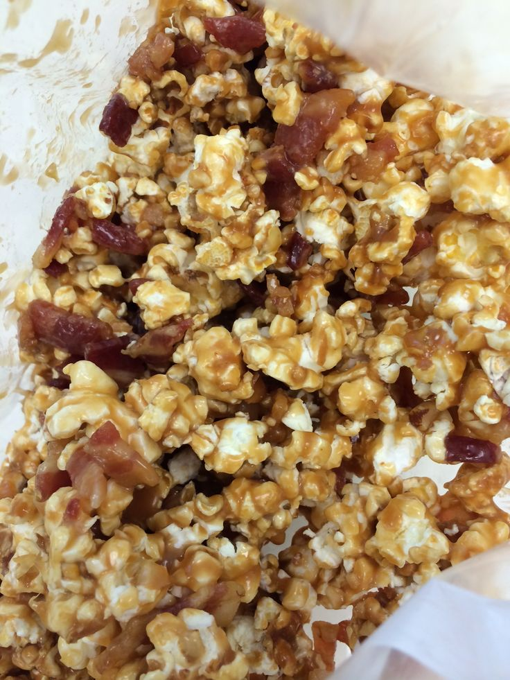 Bacon Caramel Popcorn! | Food and Wine | Pinterest