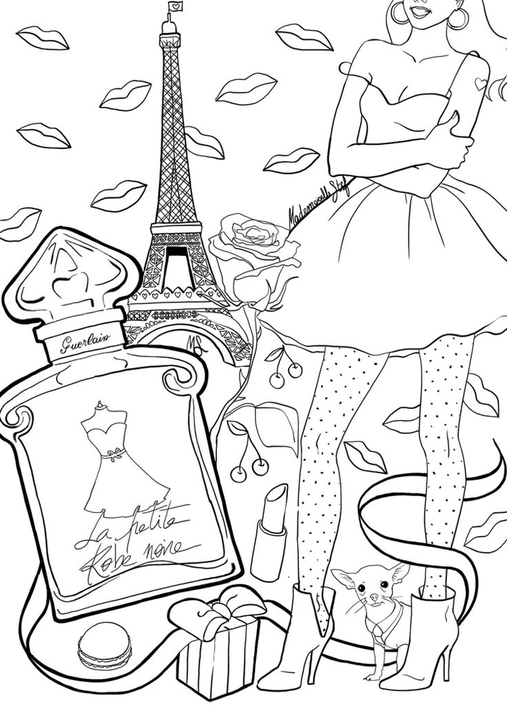 coloring pages perfume - photo#13