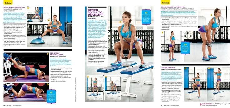 Oxygen Magazine GLUTES fitness model Timea Majorova Spring 2009